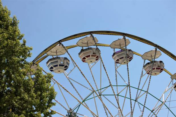 Picture of the Ferris Wheel at the first day of the Nevada County Fair.