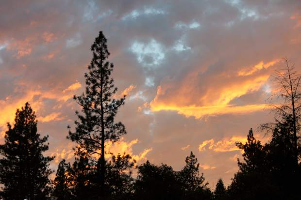 Sunset on Greenhorn Road in Grass Valley.