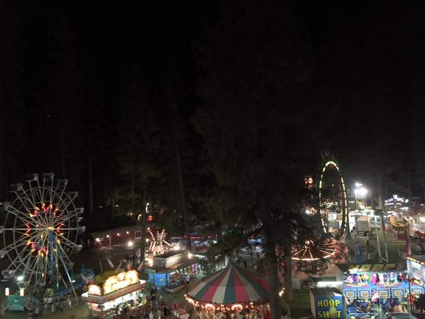 Shot of fair from above.