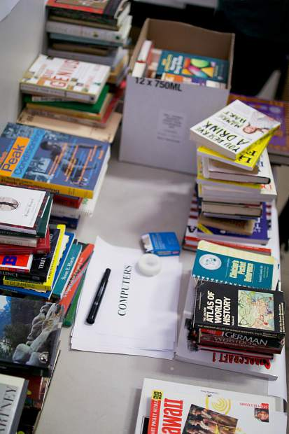 Over 5,000 books have currently been collected by county staff for their annual book sale that will take place this year in the lobby of the Eric Rood Center starting Monday.