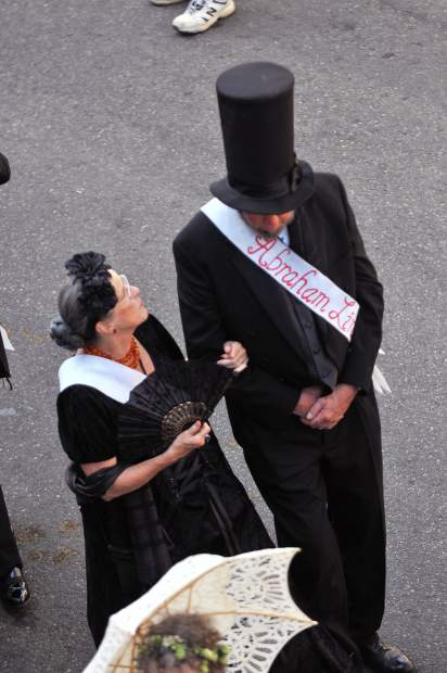 Even Abraham Lincoln and his signature top hat made an appearance with The Famous Marching Presidents.