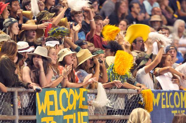 The Nevada Union Miners home crowd was high energy for the Miners second home game of the year.