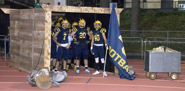 The Miners get ready to take the field ahead of their game with Placer Friday.