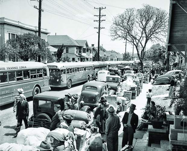 Hundreds of Los Angeles families of Japanese ancestry were loaded onto buses in March of 1942. Roughly 120,000 Japanese immigrants and Japanese-Americans were sent to camps in the western U.S. because the government claimed they might plot against their homeland. Nevada City filmmaker Catherine Busch's project is a reminder of this dark chapter, and a lesson in today's divisive political climate.