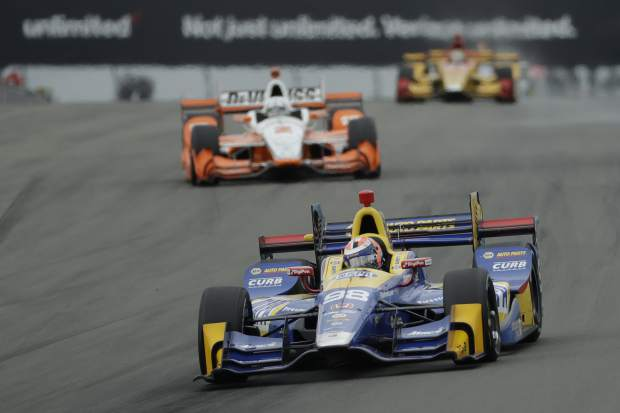 Alexander Rossi had a banner weekend — he edged Dixon on Saturday for his first career pole — took a hit on lap 24, but it was brief thanks to some good fortune. He had fuel filler problems and had to pit off sequence from the lead, and a 12-second stop left him back in 18th as teammate Hunter-Reay took over the top spot. But when the third caution flew one lap later, Rossi regained the lead after the rest of the leaders pitted and led half of the 60-lap race.