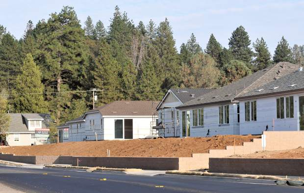 Now: Many of the homes under construction in a neighborhood being built along Ridge Road in Grass Valley have already been sold.