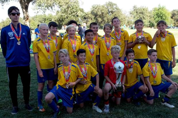 At the Goal Rush Classic in Elverta, the Gold Country United 2005 boys team took home the first place trophy.