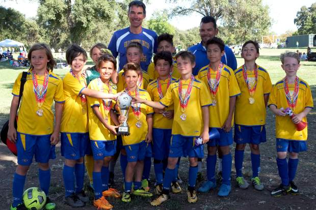 At the Goal Rush Classic in Elverta, the Gold Country United 2007 boys team took home the third place trophy.