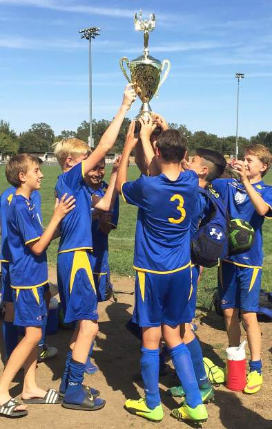 At the Roseville Fall Classic, the Gold Country United 2003 Boys team captured the championship with a 3-1 win against the Granite Bay Fire.
