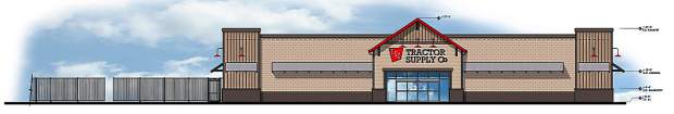 The new Tractor Supply Company store will include a 19,034 square foot main retail building