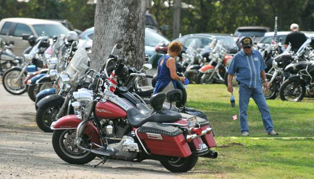 Motorcycles and tricycles of all types were on display at Western Gateway Park in Penn Valley during Saturday's Welcome Home Vets event.