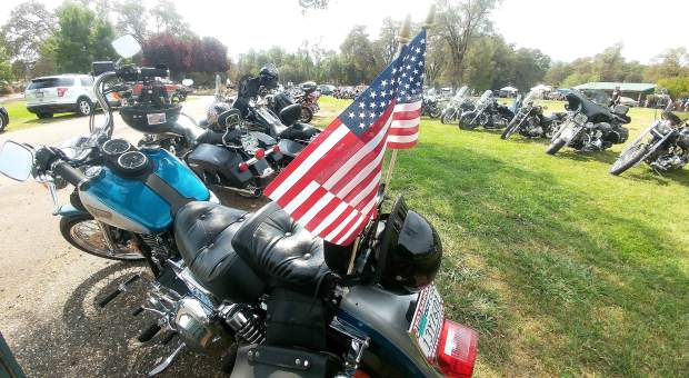A gathering of area motorcyclist showed off their two and three wheeled machines in support of Saturday's Welcome Home Vets event at Penn Valley's Western Gateway Park.