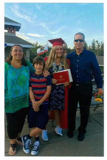 The Bartosh family celebrates Cordelia's graduation. Photo submitted by Moe Bartosh