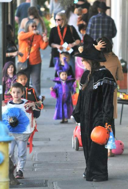 Hundreds of families filled the streets of Grass Valley during Tuesday's trick or treat event.