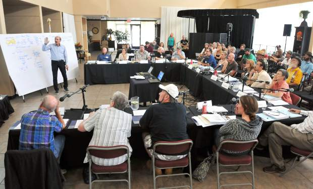 The Nevada County community advisory group on cannabis gathers for the seventh of eight planned meetings being used to help formulate cannabis legislation for the county.