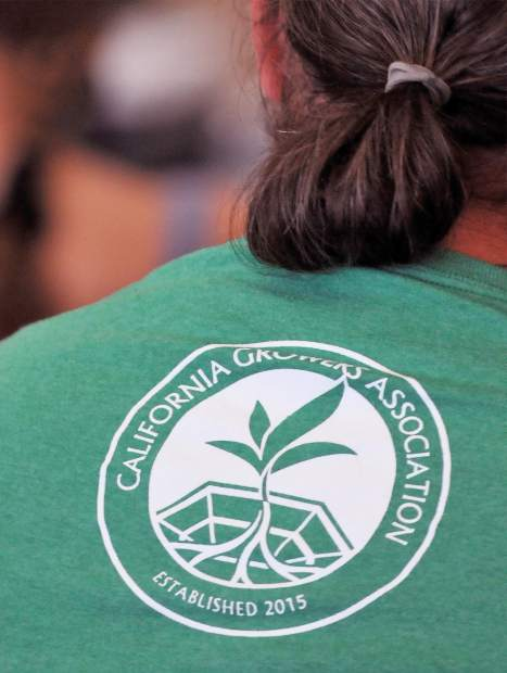 California Growers Association members wore their shirts proudly in the audience during Tuesday's community advisory group meeting.