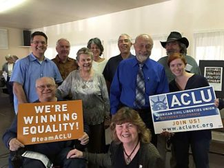 Smith served on the board of directors for the ACLU-Northern Sierra. front row, Patricia Smith; middle row, Taylor Carey, Marilyn Nyborg, Robert Kruger, Tessa D'Arcangelo; back row, Abdi Soltani, David Edwards, Lorraine Reich, Paul Sieving and Don Russell. Union file photo