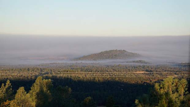 View from Wolf Mountain lookout looking toward Beale Air Force Base.