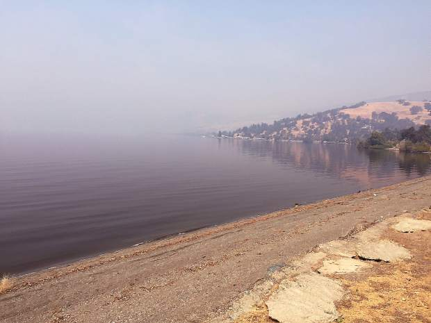 Picture of Clear Lake, not so clear, on Highway 20 taken Tuesday afternoon.