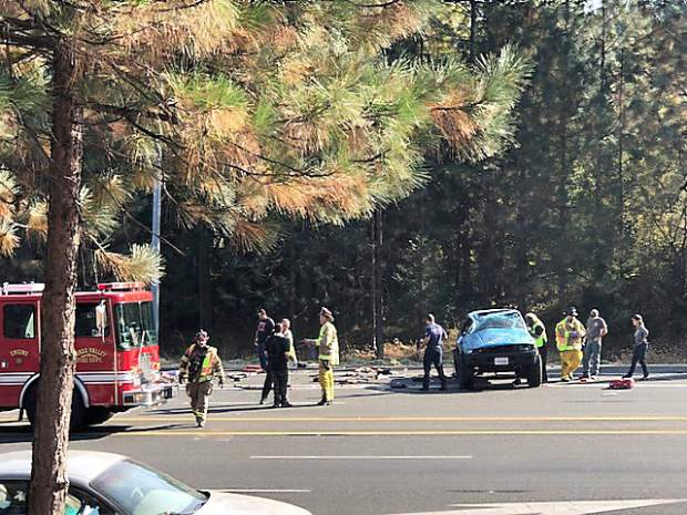 Picture of a car wreck last weekend on Highway 20.