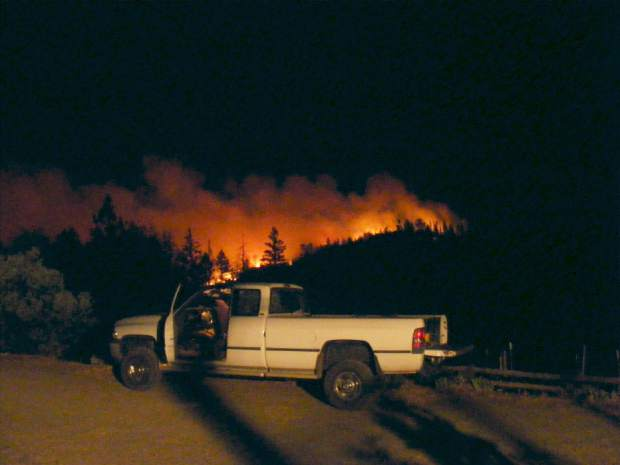 Pictures of the Lobo Fire in the Mystic Mine area.