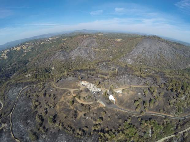 See this photo at TheUnion.com to view a drone flyover video of areas burned by last week's wildires in western Nevada County.