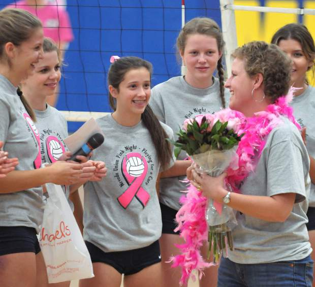 "Greta Kramer, a senior captain, hosted the ""Pink Night"" event as a part of her senior project. Kramer said all the proceeds raised at the game will go to the Sierra Nevada Memorial Hospital Foundation to be used for technology to treat breast cancer."
