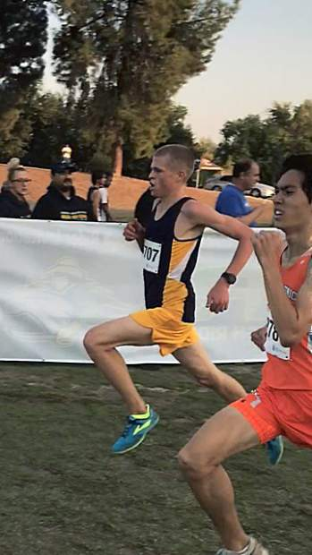 Nevada Union junior Garrett Gough has been phenomenal this year, earning four first place and two second place finishes in Nevada Union's first six cross country meets. Some of his times have been outright dominant, besting the second place runner by 30 seconds or more.