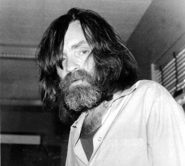 FILE - In this June 10, 1981 file photo, convicted murderer Charles Manson is photographed during an interview with television talk show host Tom Snyder in a medical facility in Vacaville, Calif. Authorities say Manson, cult leader and mastermind behind 1969 deaths of actress Sharon Tate and several others, died on Sunday, Nov. 19, 2017. He was 83. (AP Photo, File)