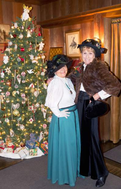 Patricia Gizzi portrayed Libby Starr and Suzy Steele as Agnes Bourn at Bourn Cottage Saturday morning during the Holidays at Empire Mine. According to event organizers, Friday's attendence was a record at the annual event.
