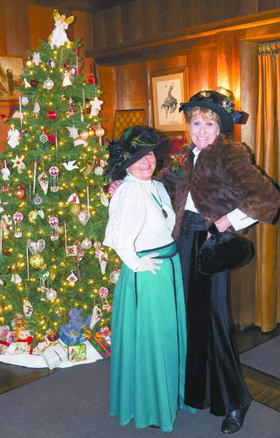 Photo by John Hart Patricia Gizzi as Libby Starr and Suzy Steele as Agnes Bourn in the Bourn Cottage, Saturday morning, Holidays at Empire, and Friday attendence was a record at the mine event.