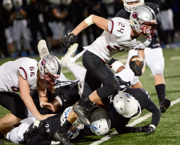 Bear River receiver Tre Maronic and the Bruins are set to face Colfax in the Sac-Joaquin Section D-V championship game Saturday.