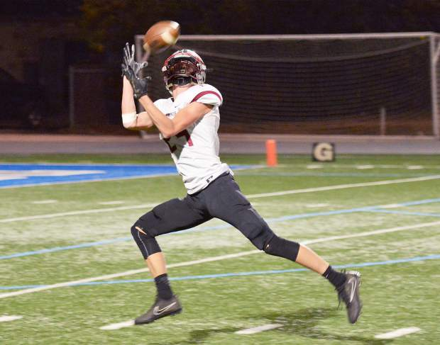 Bear River's Tre Maronic caught three passes for 46 yards and two touchdowns, and also rushed 11 times for 76 yards in the Bruins' 26-7 playoff win over Capital Christian last week.