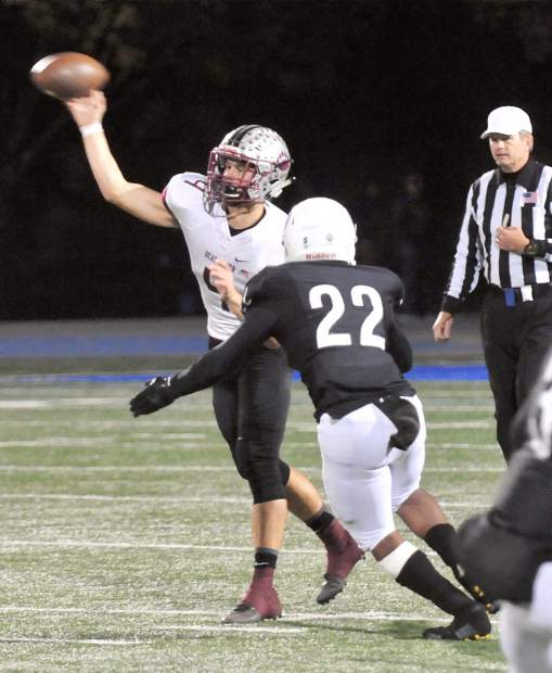 Bear River's senior quarterback Luke Baggett went 9-for-12 for 171 yards and three touchdowns in the Bruins playoff win over Capital Christian last week.