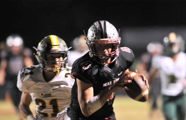 Bear River's senior quarterback Luke Bagget will lead the Bruins into a must-win game tonight against Pioneer Valley League combatant Center.