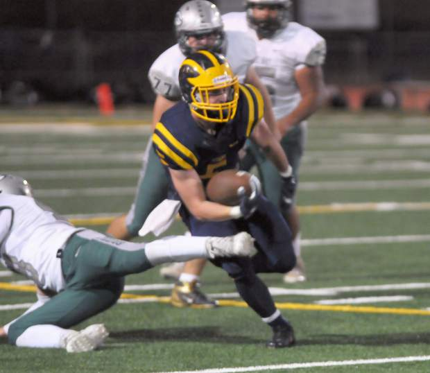 Nevada Union running back Tyler Nielson was named to the 2017 All-Sierra Foothill League First Team.
