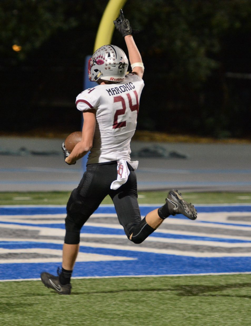 Bear River's Tre Maronic coasts into the ens zone for a 39-yard touchdown against Capital Christian Thursday.