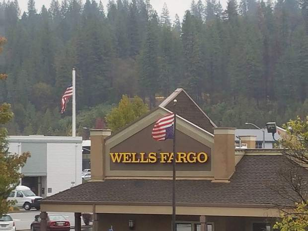 Local residents were concerned last week when the flag in front of the Wells Fargo building in Downtown Grass Valley rode upside down. The flag was eventually fixed.