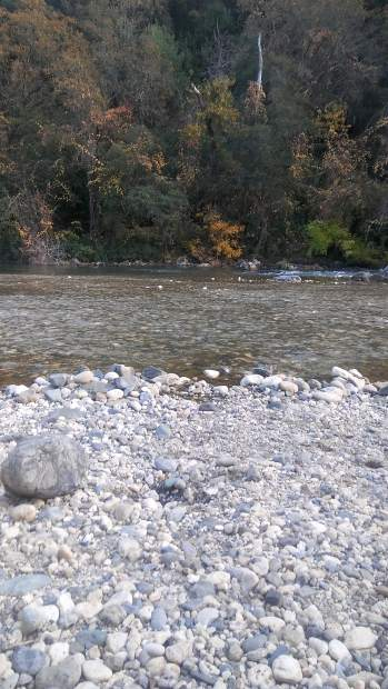 Rock and gravel down at the Bear River.