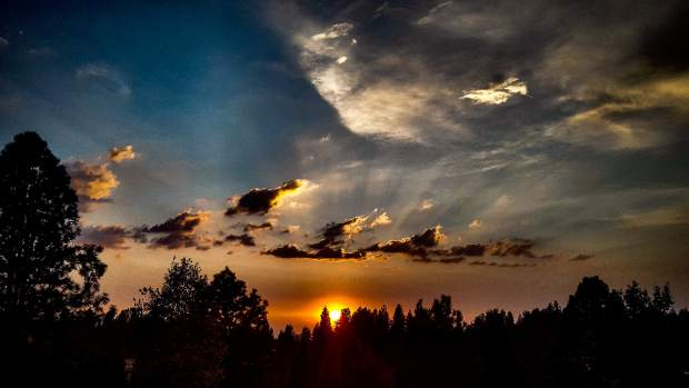 Shot of a recent sunset from Sierra College in Grass Valley.