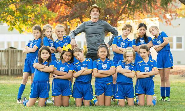 The Gold Country United 2008 girls competitive soccer team finished the fall season undefeated. Top row from left: Lucy Pfaffinger, Kara Kirkpatrick, Paige Thompson, Chris Cerruti, Harper Cerruti, Ana Sanchez and Tessa Herrera. Bottom row from left: Milana Schuler, Valentina Zanudo, Claire Bishop, Valeria Garcia Quintana, Kendall Bentley and Gianna Roederer.