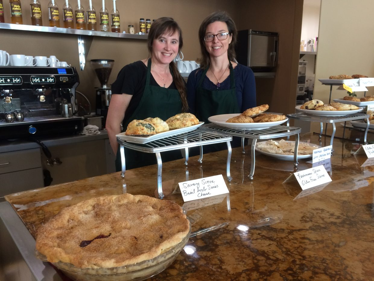 Baker Dena Macklin (left) and owner/chef Julie Roberts (right) make everything fresh in-house daily.  Photo by Valerie Costa