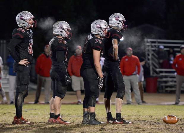 Bear River's defensive line is a big reason for the team's success. The Bruins defensive linemen can get after the quarterback and are also strong against the run.