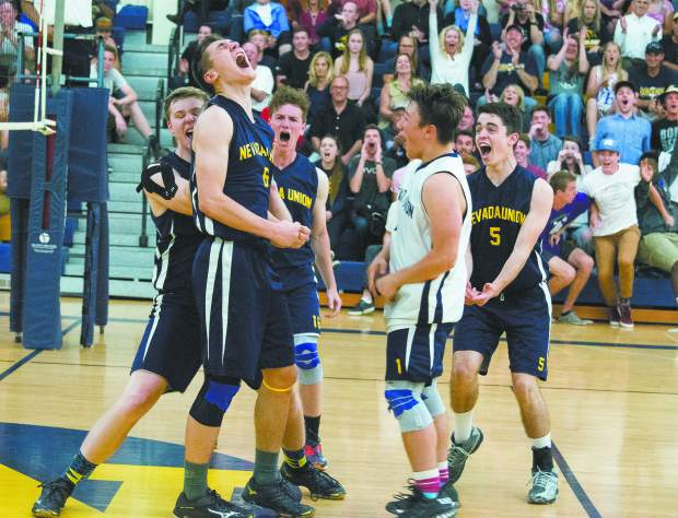 Nevada Union's boys volleyball team went 30-13 overall and 11-1 in Sierra Foothill League play to grab a share of the league title this season. It is the Miners first boys volleyball league championship since 2013.