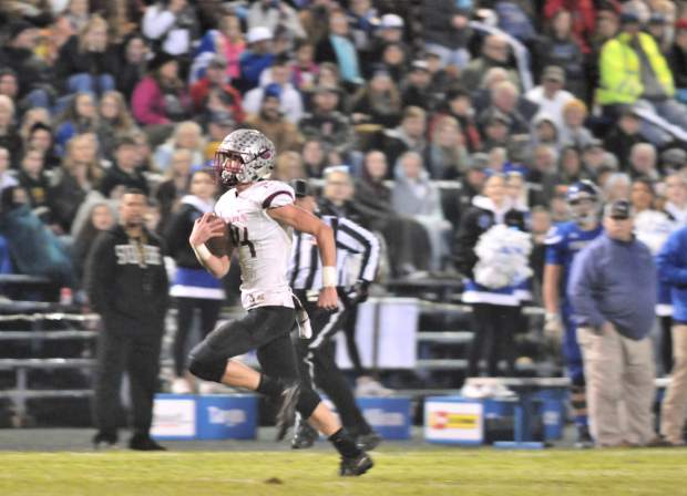 Bear River's Tre Maronic scores a touchdown on this 68-yard run during the CIF NorCal 5-A Regional Bowl Game Saturday.