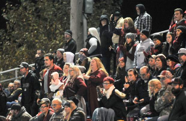Bear River fans root on the Bruins in the CIF NorCal 5-A Regional Bowl Game against Fortuna Saturday.