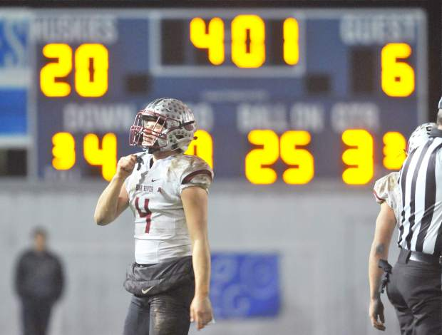 Bear River's Luke Baggett reacts during the CIF NorCal 5-A Regional Bowl Game against Fortuna. The Bruins lost, 34-20.