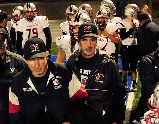 Bear River co-head coaches Terry Logue and Scott Savoie will lead the Bruins into battle against Fortuna Saturday with the NorCal 5-A title on the line.