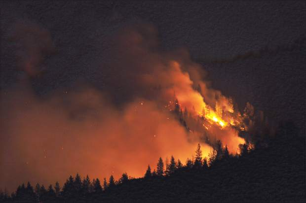 The Ponderosa Fire grew by over 1,500 acres Tuesday night to a total of 2,500 acres by Wednesday east of Oroville.