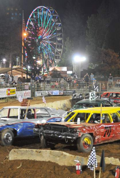 Twisted metal mayhem goes hand in hand with the annual destruction derby at the Nevada County Fair, which closed out the five day run of the 2017 fair Sunday night.